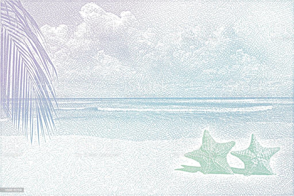 Beach Background royalty-free stock vector art