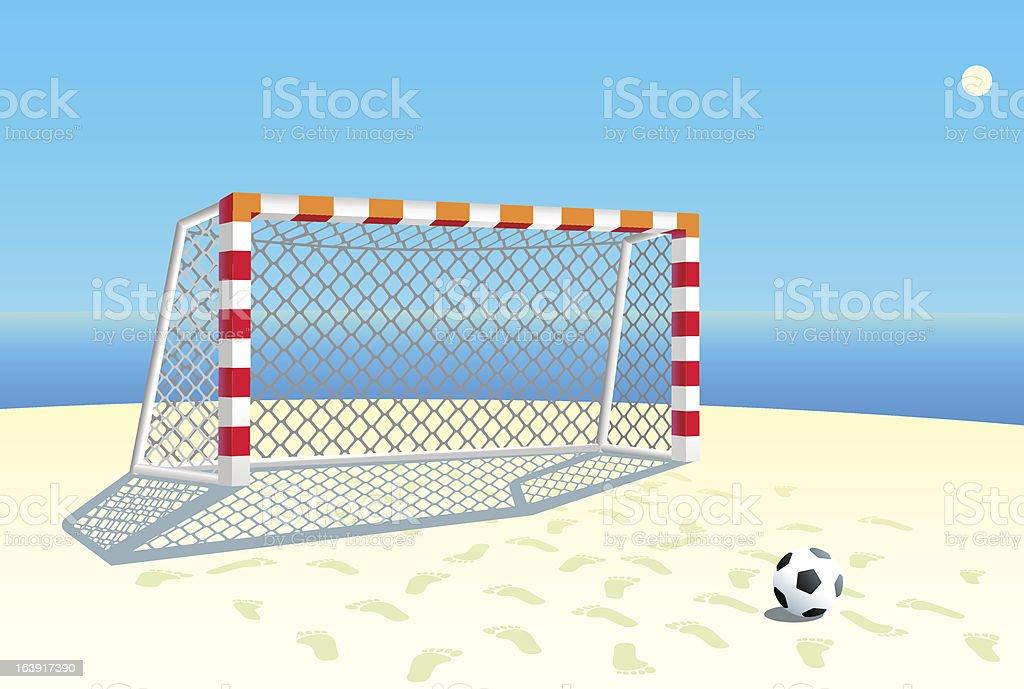 Beach soccer goal. vector art illustration