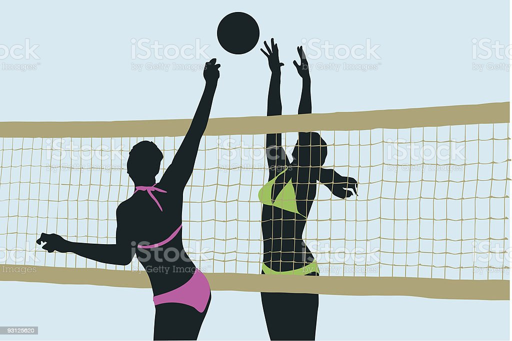 Beach Volleyball Competition vector art illustration