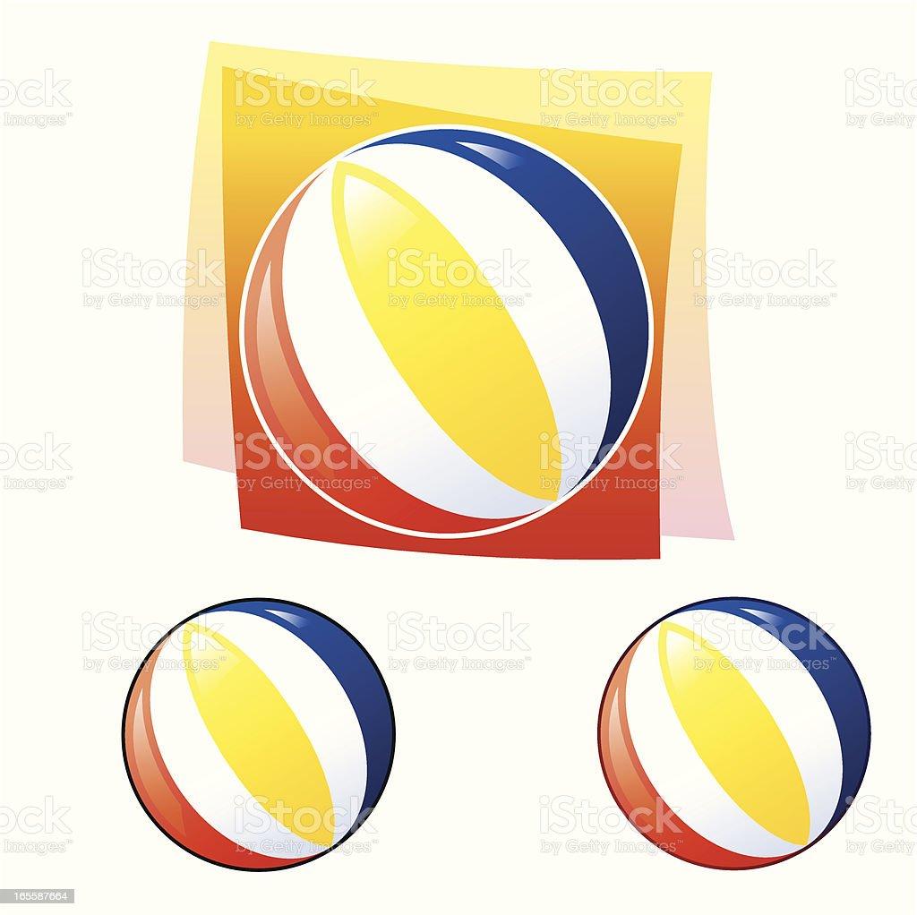 Beachball royalty-free stock vector art