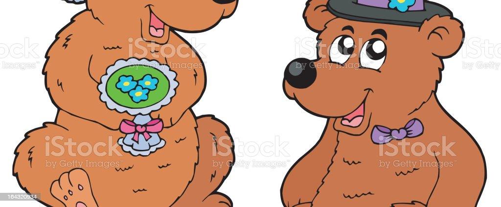 Bear wedding royalty-free stock vector art