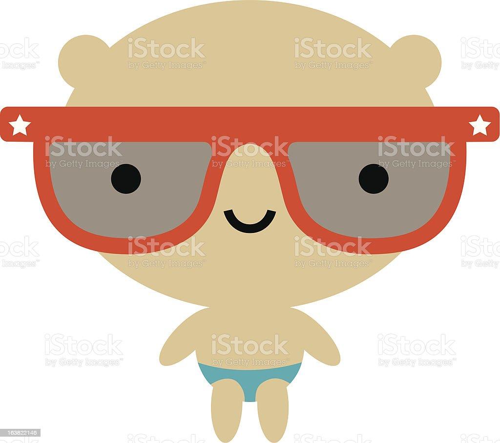 Ours à lunettes de soleil stock vecteur libres de droits libre de droits
