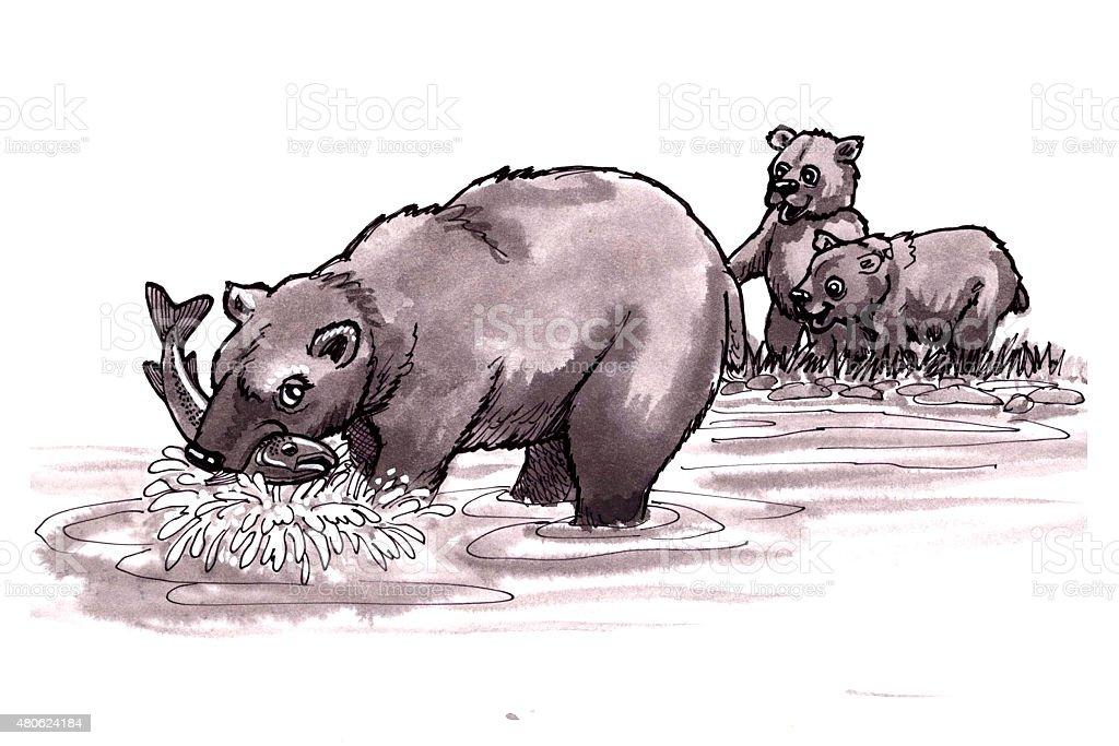 Bären (Comic Lizenzfreies vektor illustration
