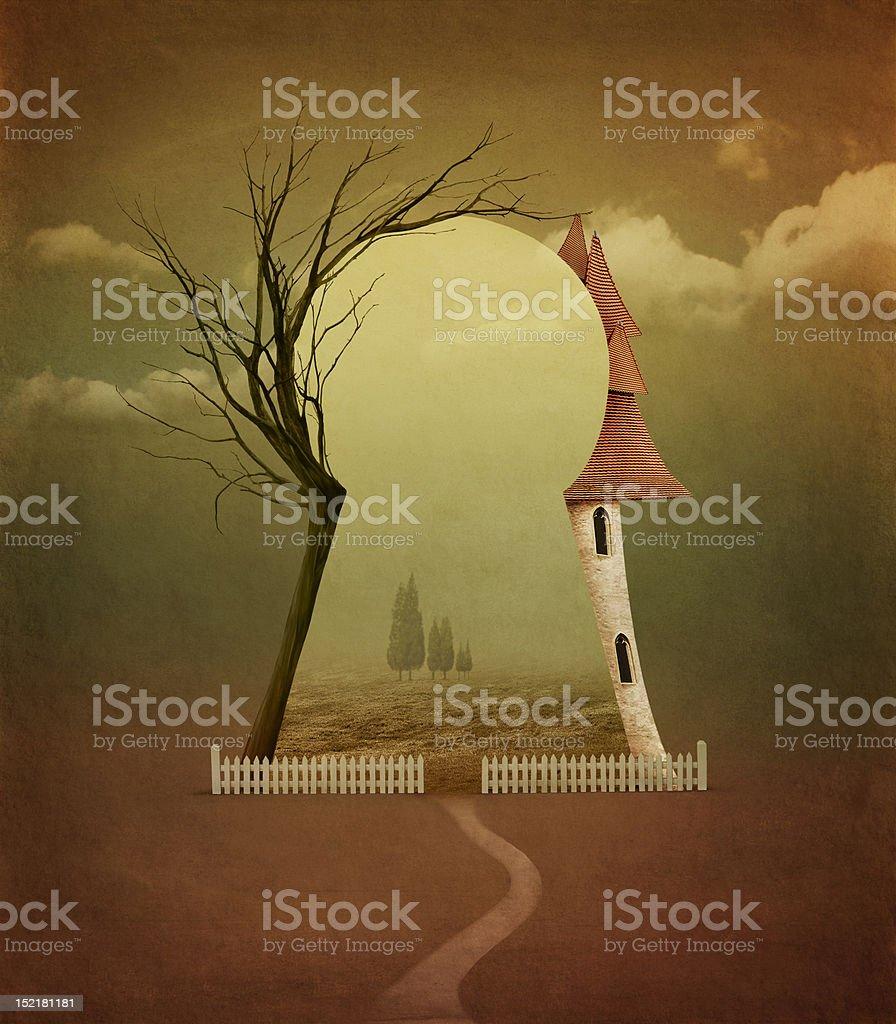 Beautiful autumn landscape. royalty-free stock vector art