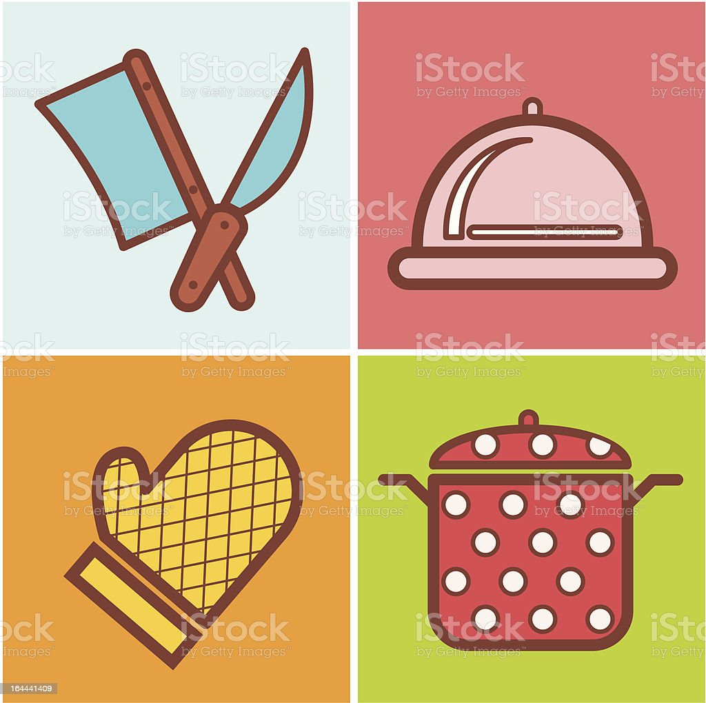 Beautiful background with a food elements. Vector royalty-free stock vector art