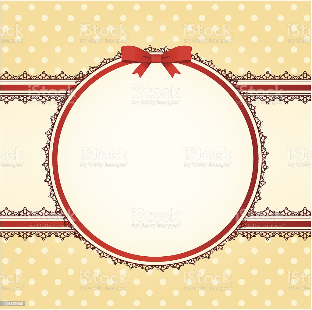 Beautiful background with bow and lace. Vector royalty-free stock vector art