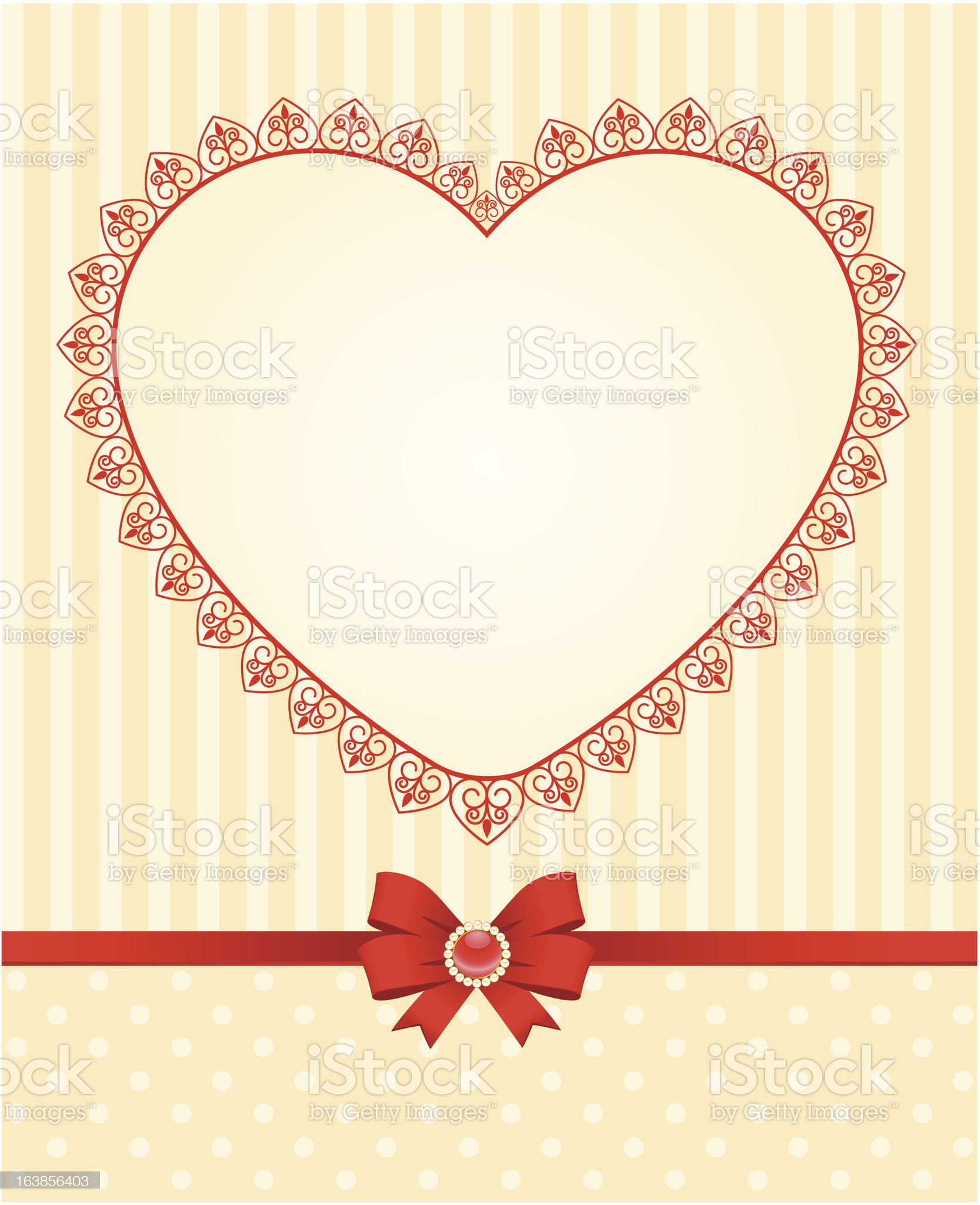 Beautiful background with heart. Vector royalty-free stock vector art