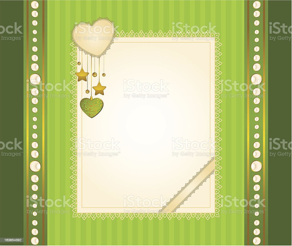 Beautiful background with lace ornaments and hearts. royalty-free stock vector art