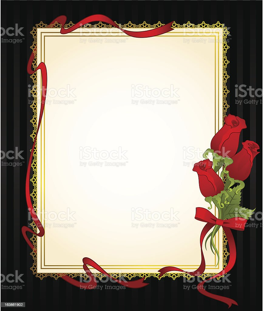 Beautiful background with red roses. Vector royalty-free stock vector art