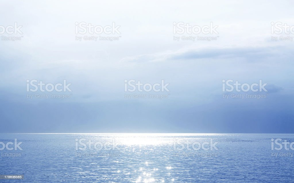 Beautiful Blue Seascape royalty-free stock vector art