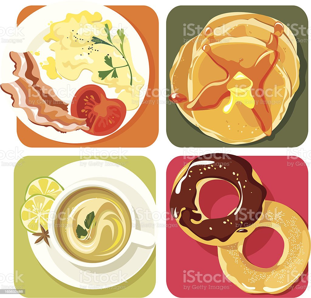 Beautiful Breakfast vector art illustration