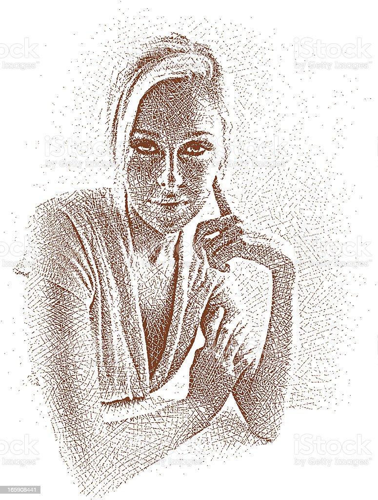 Beautiful Casual Businesswoman royalty-free stock vector art