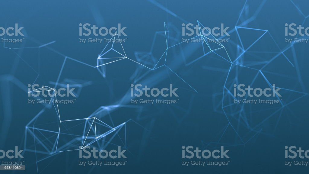 beautiful cg generated 3d abstract background with geometry lines and dots stock photo
