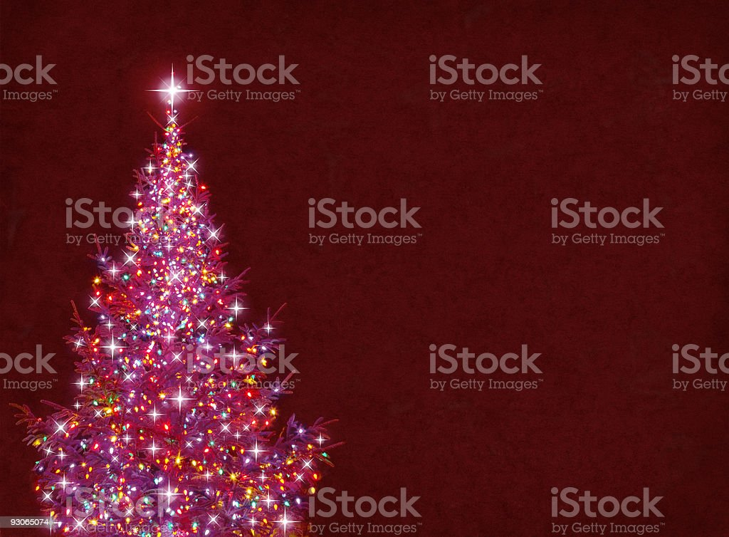 Beautiful colorful pink Christmas tree vector art illustration