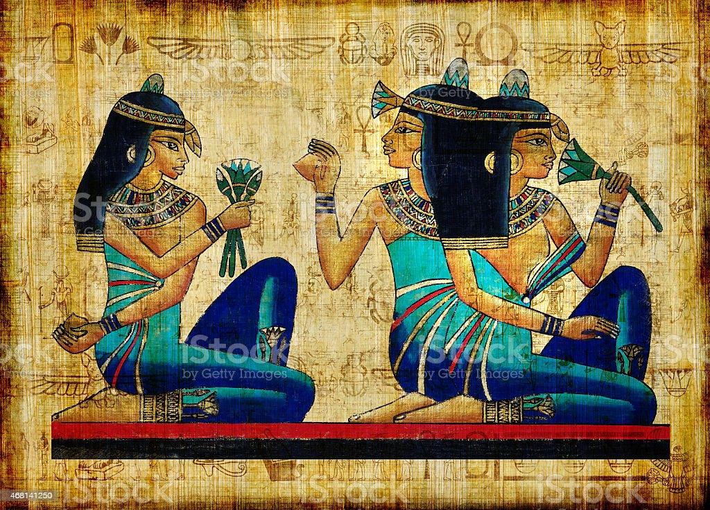 Beautiful Egyptian Papyrus vector art illustration