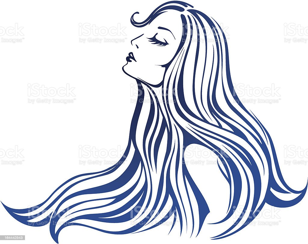 Beautiful fashion woman with hairs vector illustration royalty-free stock vector art