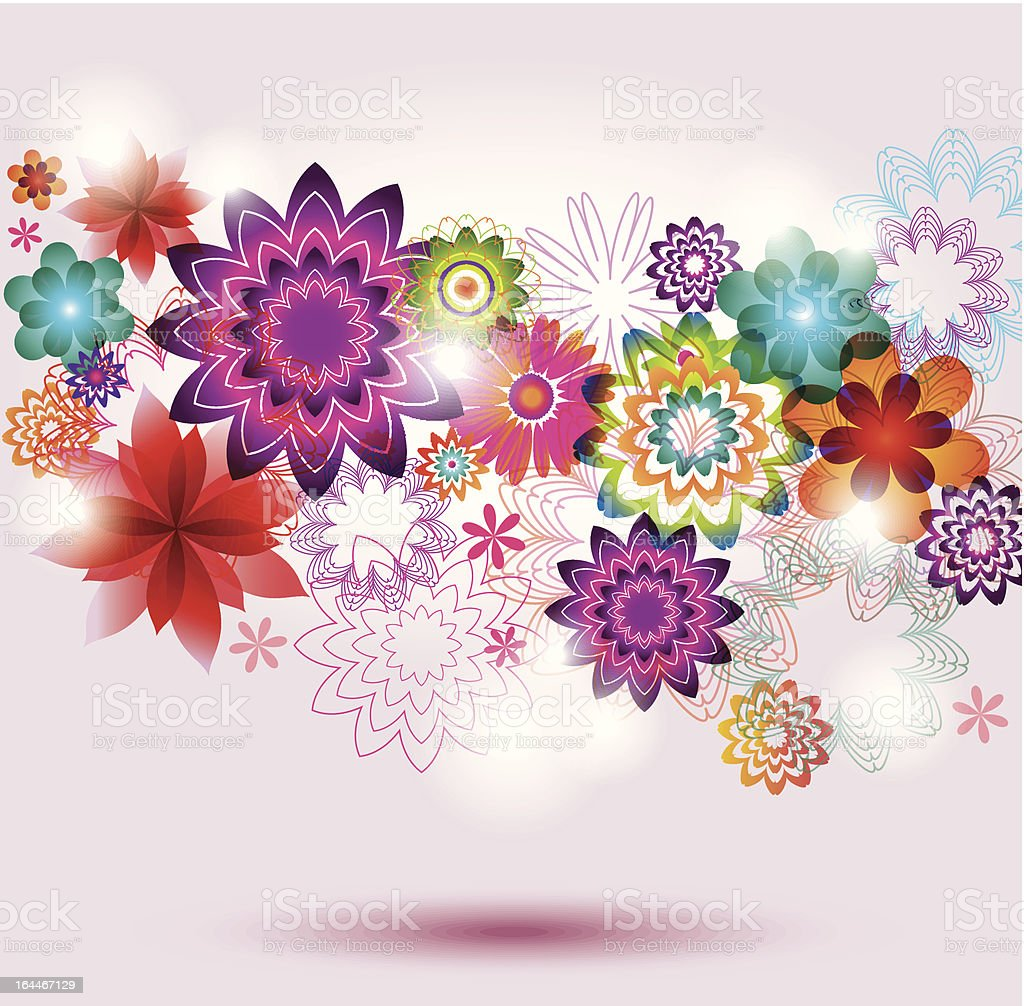 Beautiful Flower Background. royalty-free stock vector art