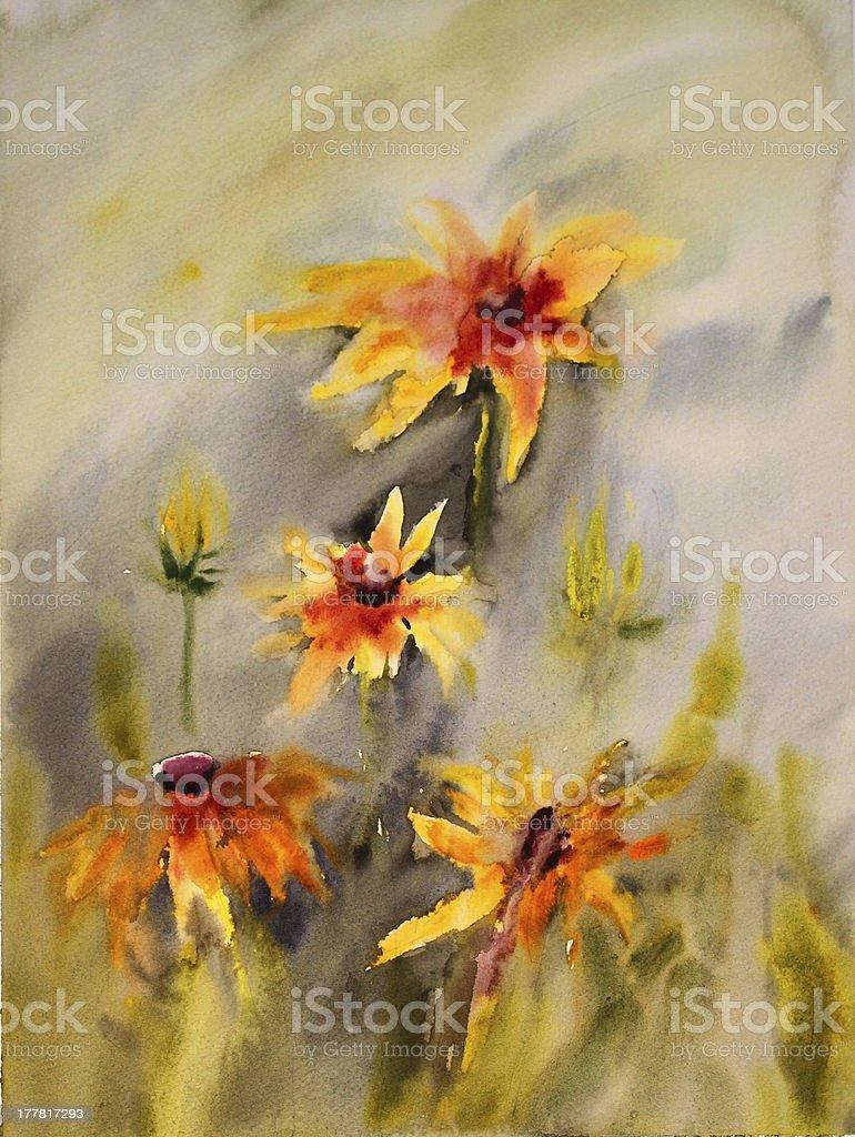 Beautiful flowers. royalty-free stock vector art