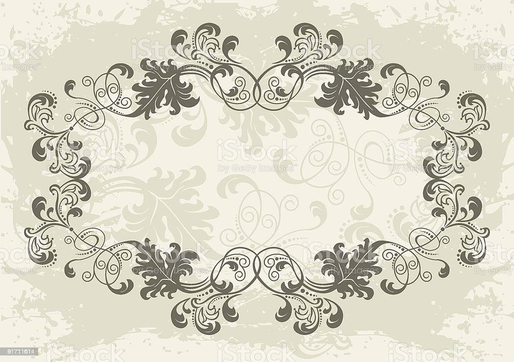 beautiful frame royalty-free stock vector art