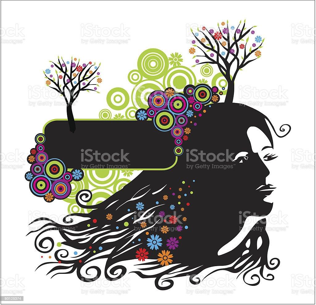 beautiful girl royalty-free stock vector art