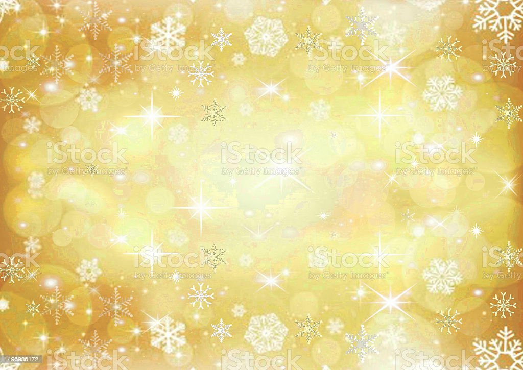Beautiful gold colored Christmas background vector art illustration