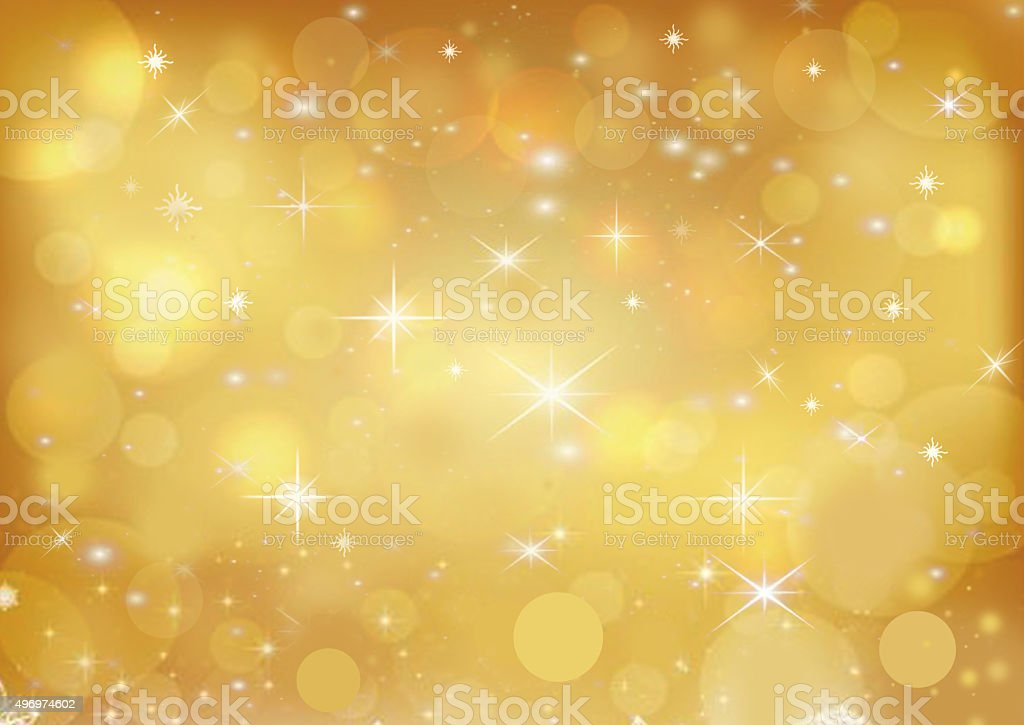 Beautiful gold colored holiday background vector art illustration
