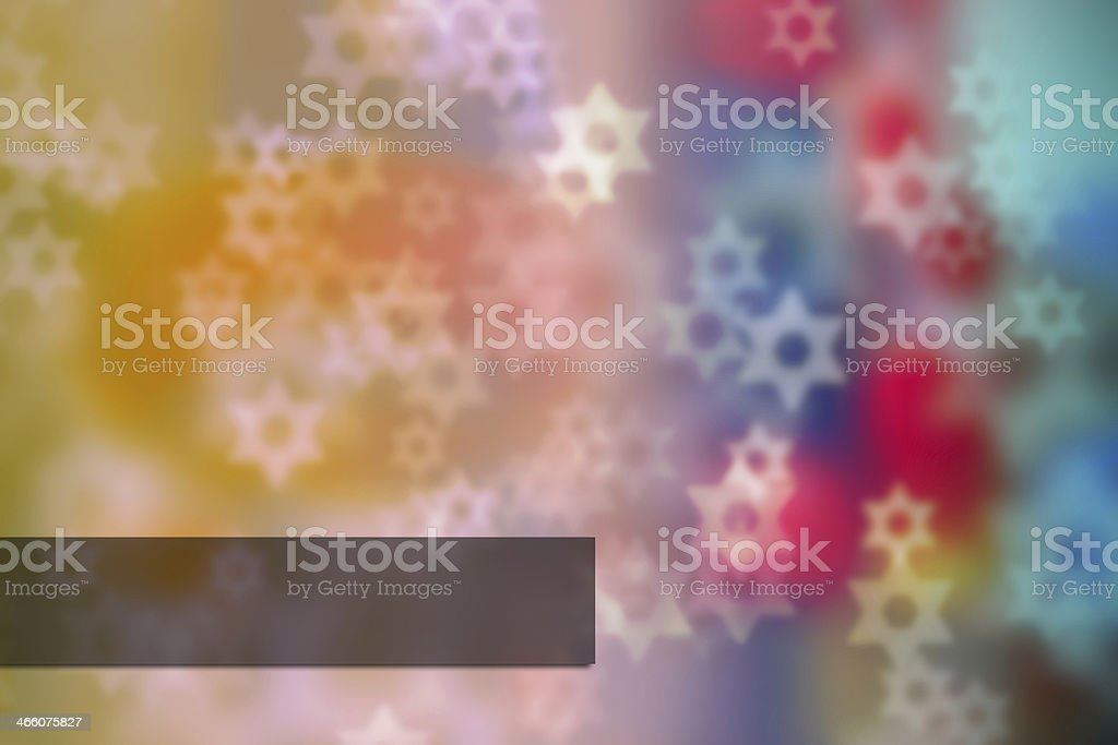 Beautiful Israel bright background (bokeh). vector art illustration
