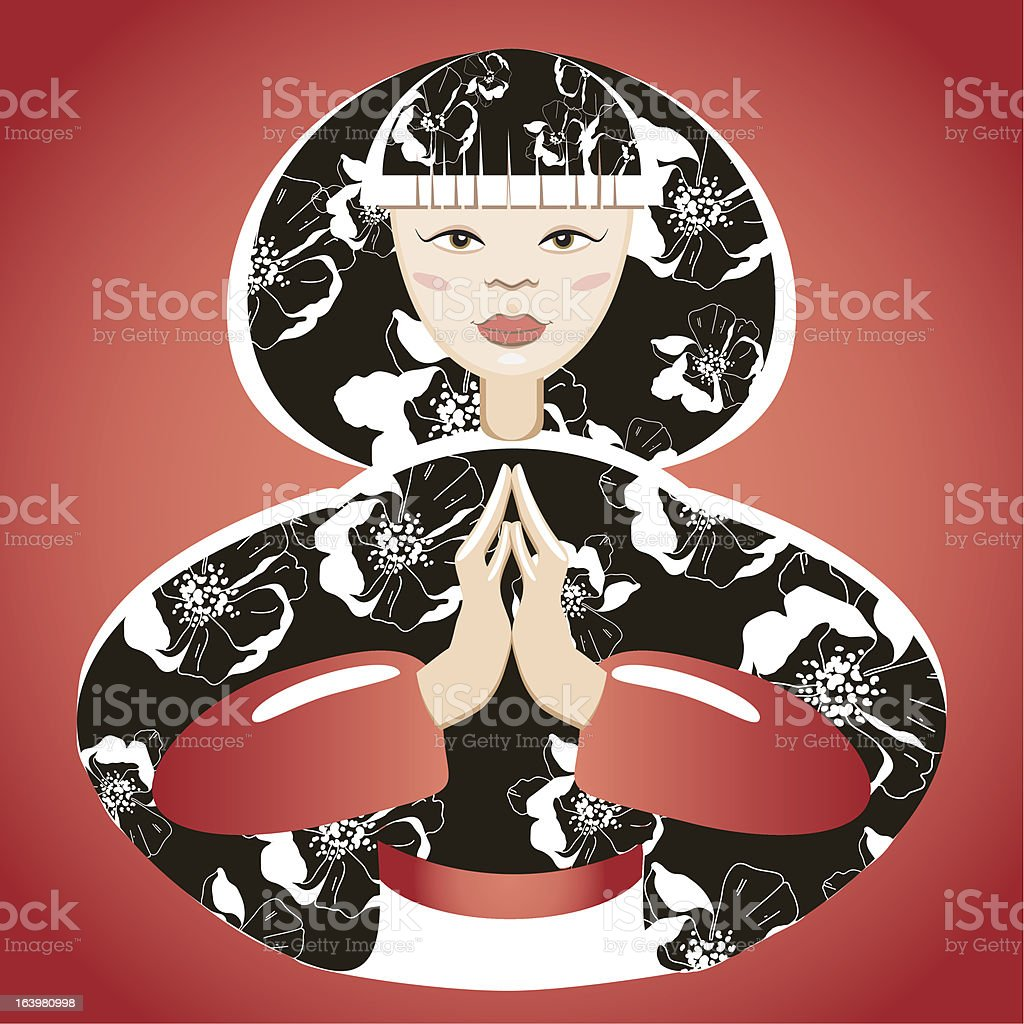 Beautiful japanese woman royalty-free stock vector art