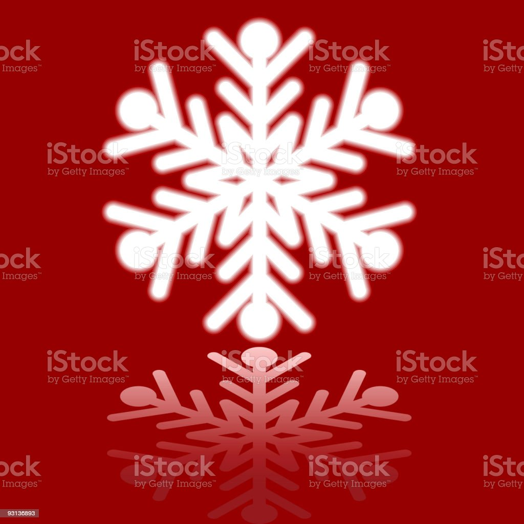 Beautiful luminous snowflake. royalty-free stock vector art