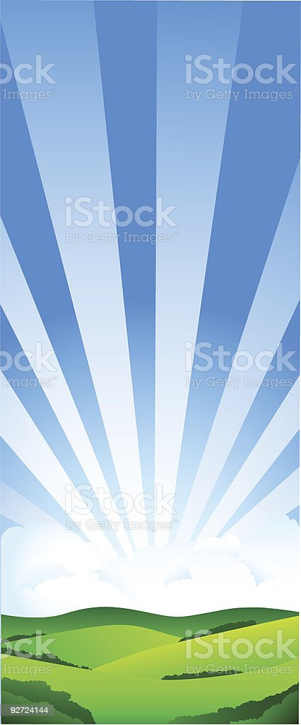 Beautiful sun day royalty-free stock vector art