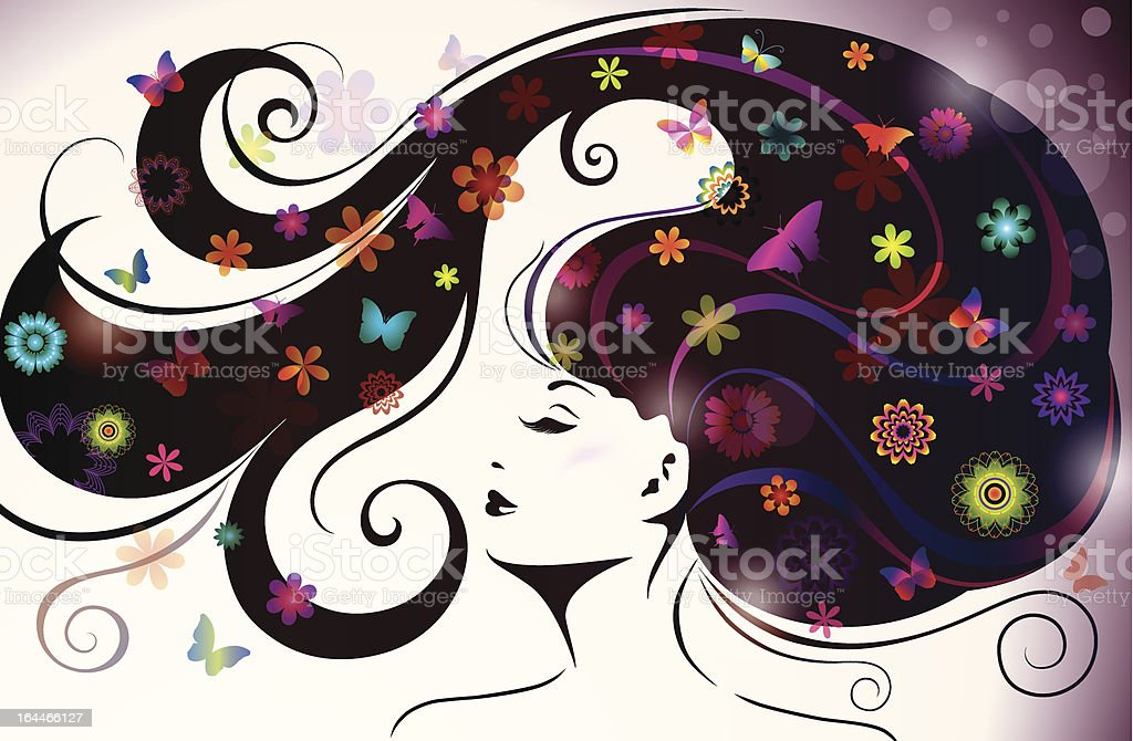 Beautiful young woman. royalty-free stock vector art
