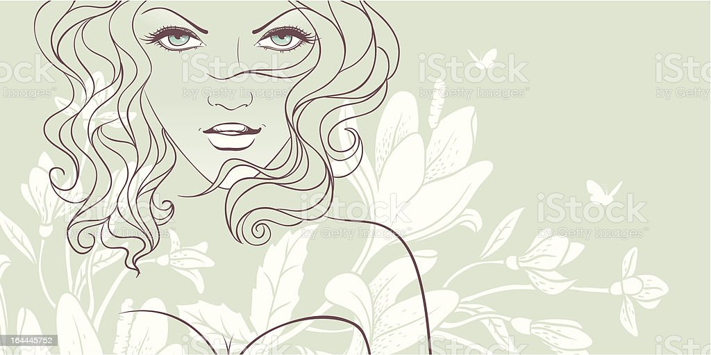 Beauty floral woman royalty-free stock vector art