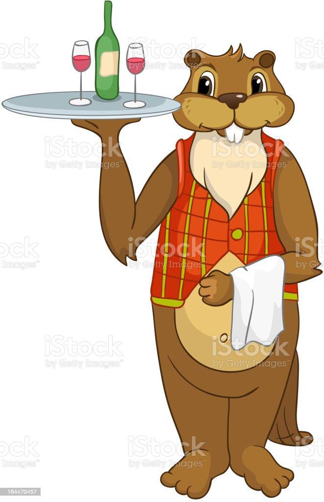 Beaver Cartoon royalty-free stock vector art