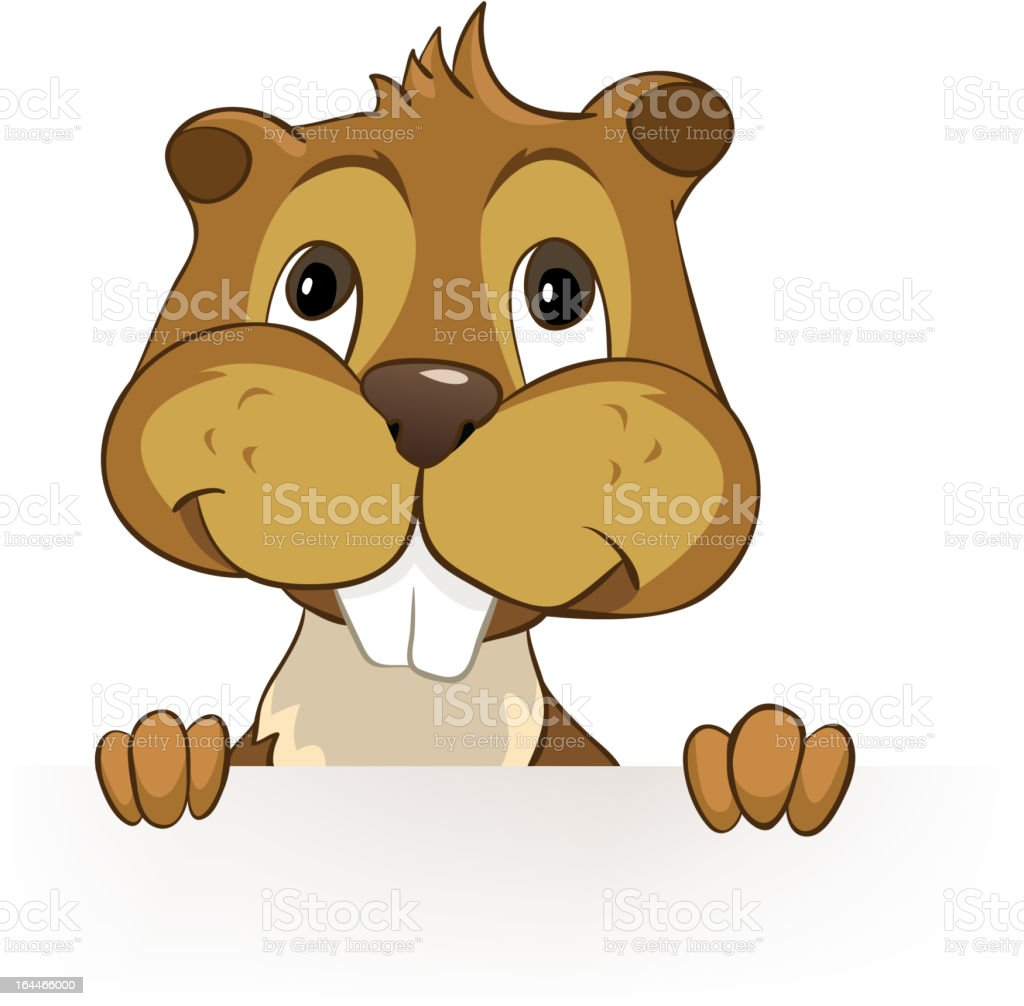 Beaver CREES vector art illustration