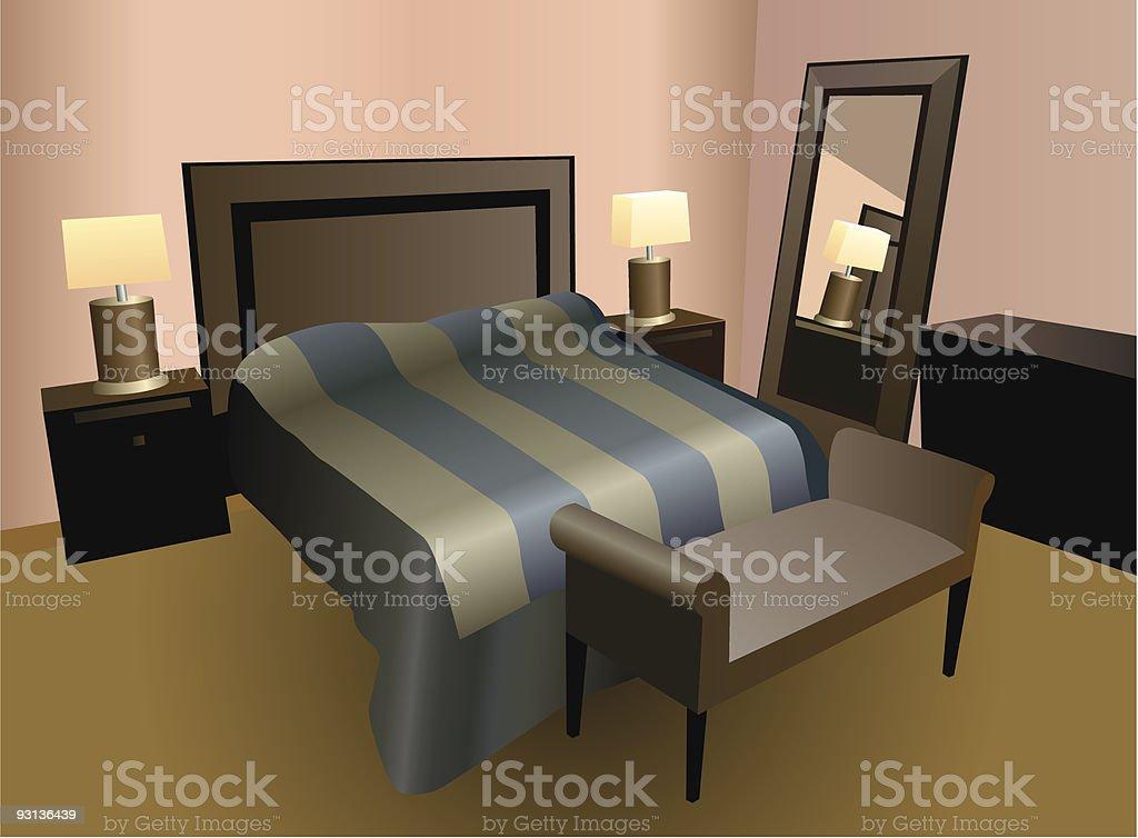 bedroom vector royalty-free stock vector art