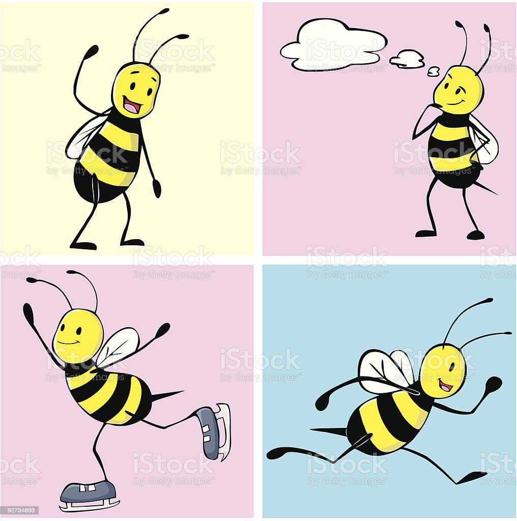 Bee Healthy vector art illustration