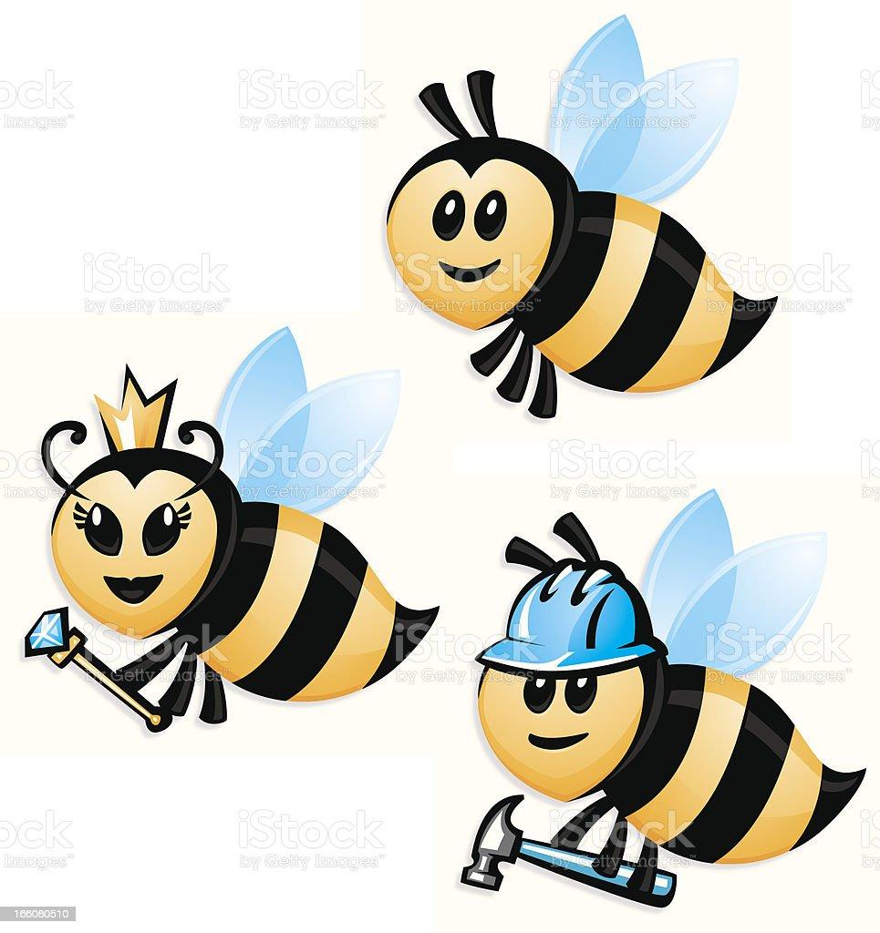 bee set vector art illustration