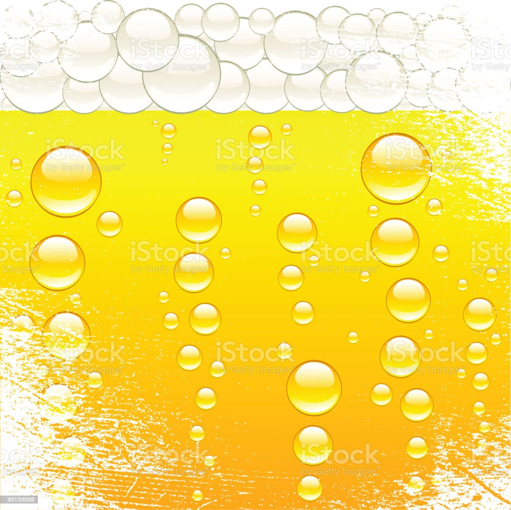 beer and bubbles. royalty-free stock vector art