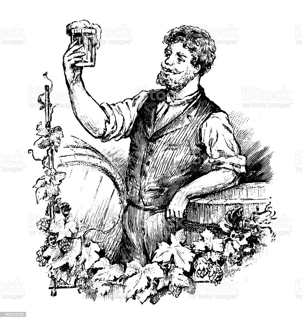 Beer maker | Antique Design Illustrations royalty-free stock vector art