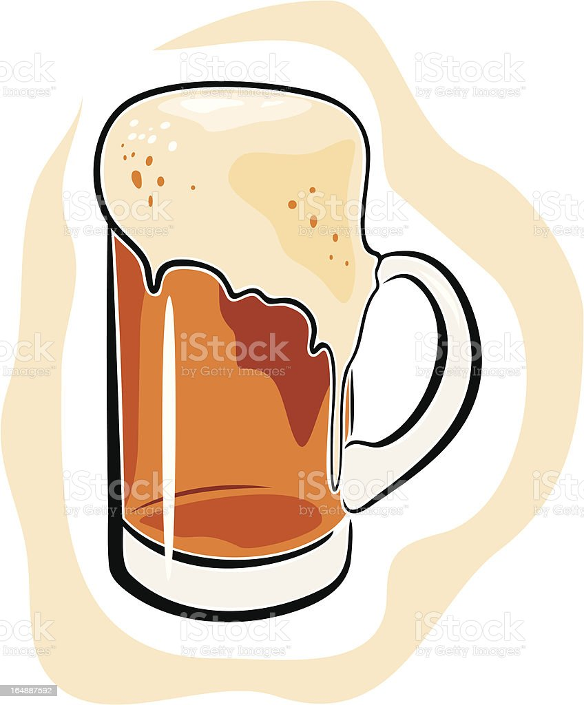 Beer Mug (Vector) royalty-free stock vector art