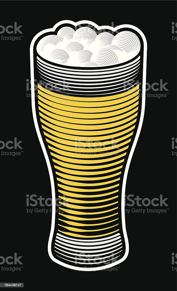 Beer pint royalty-free stock vector art