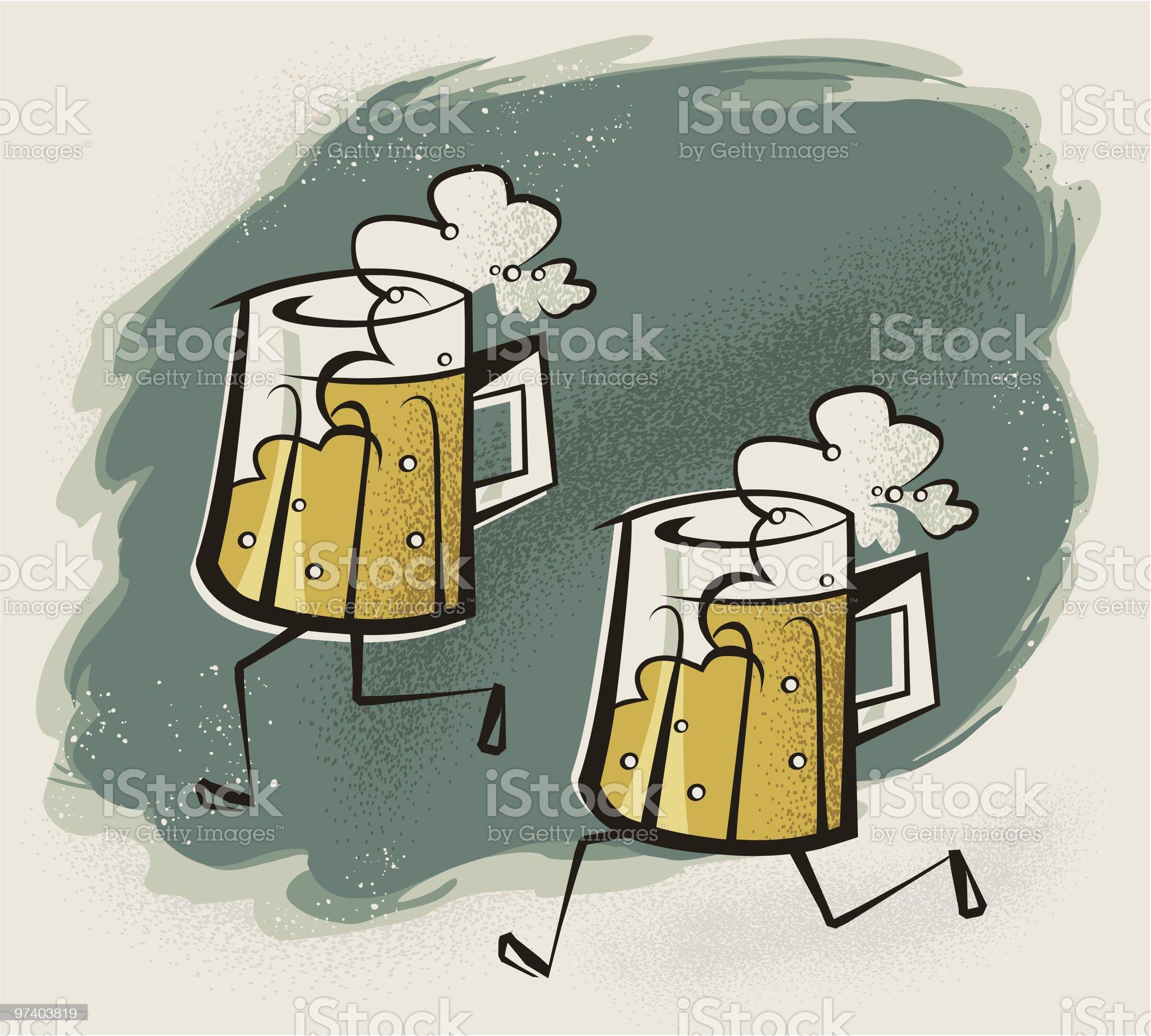 Beer Run royalty-free stock vector art