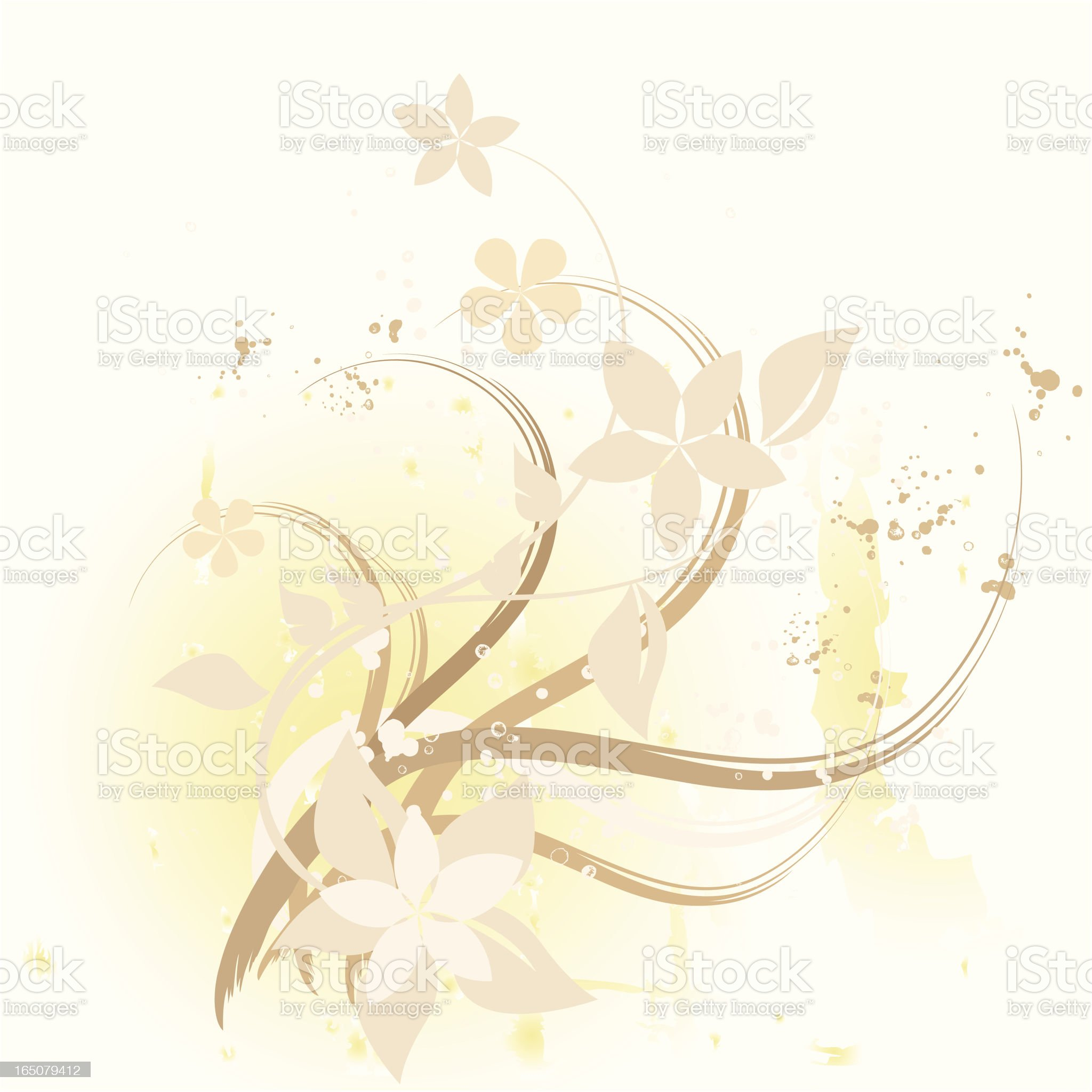 Beige floral royalty-free stock vector art