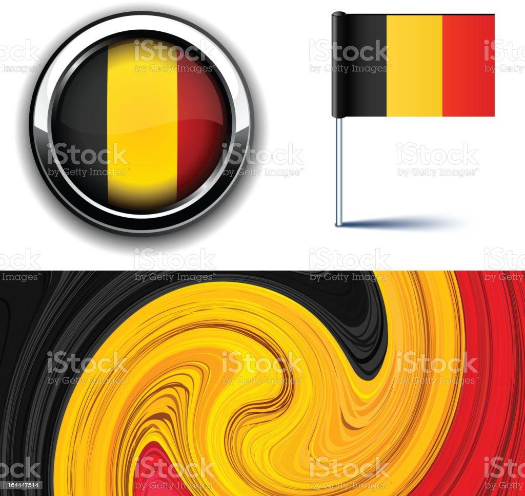 Belgian flag. royalty-free stock vector art
