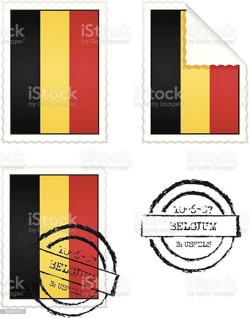 Belgian Stamp Set royalty-free stock vector art