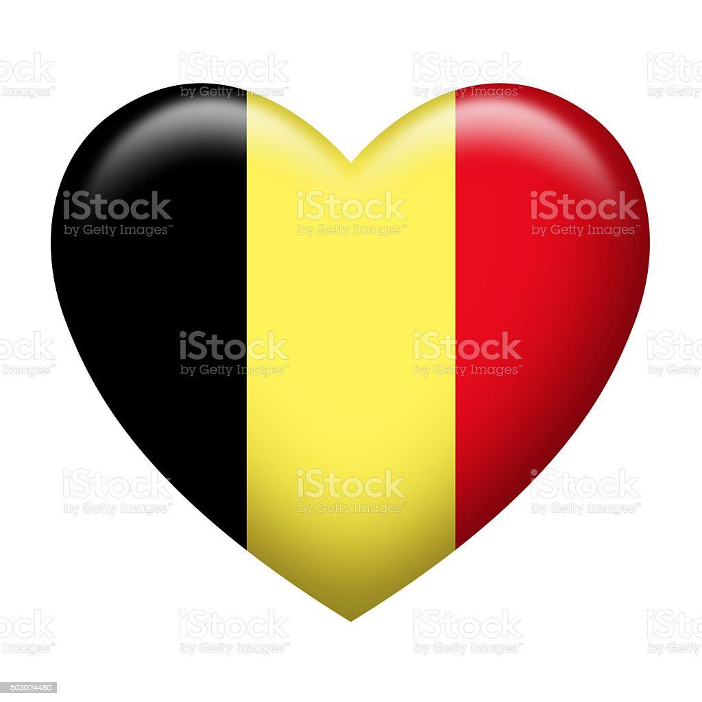 Belgium Insignia Heart Shape vector art illustration