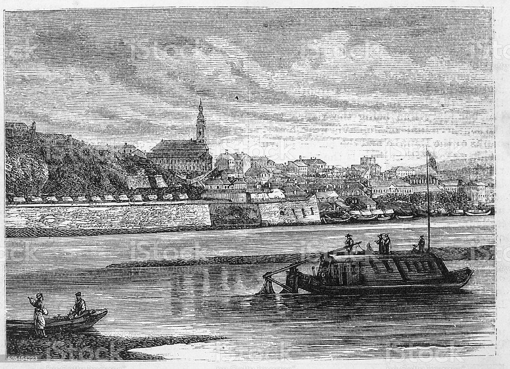 Belgrade, the Capital of Serbia vector art illustration