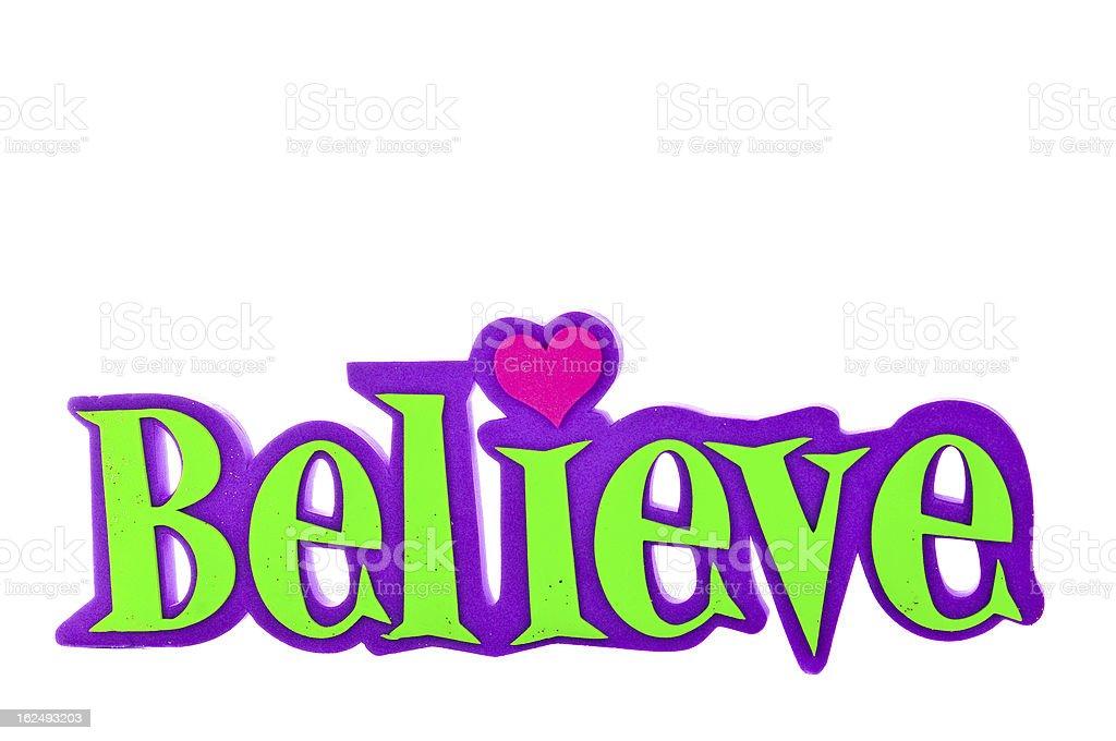 believe-word royalty-free stock vector art