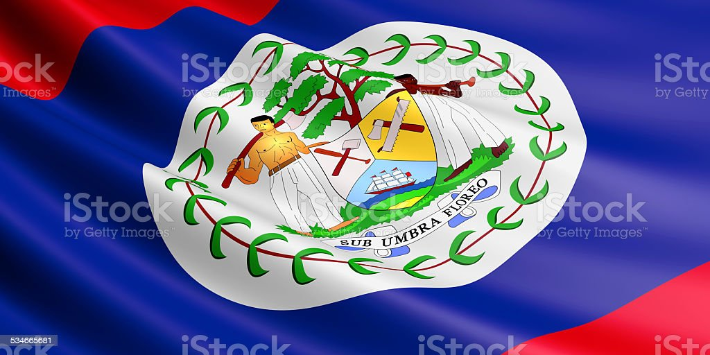 Belize flag. royalty-free stock vector art