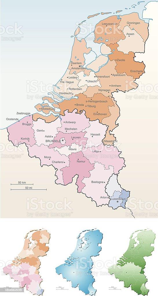 Benelux royalty-free stock vector art